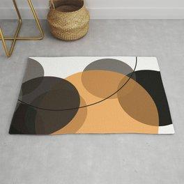 Abstract Circled Sun Rug