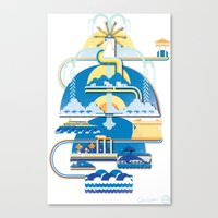 greece Canvas Prints featuring Greece by Patrick Welham