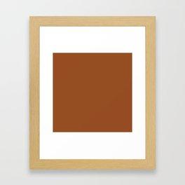 Brown Solid Color Framed Art Print