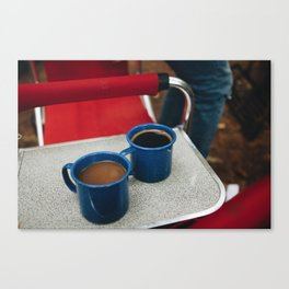 Coffee and Camping 2 Canvas Print