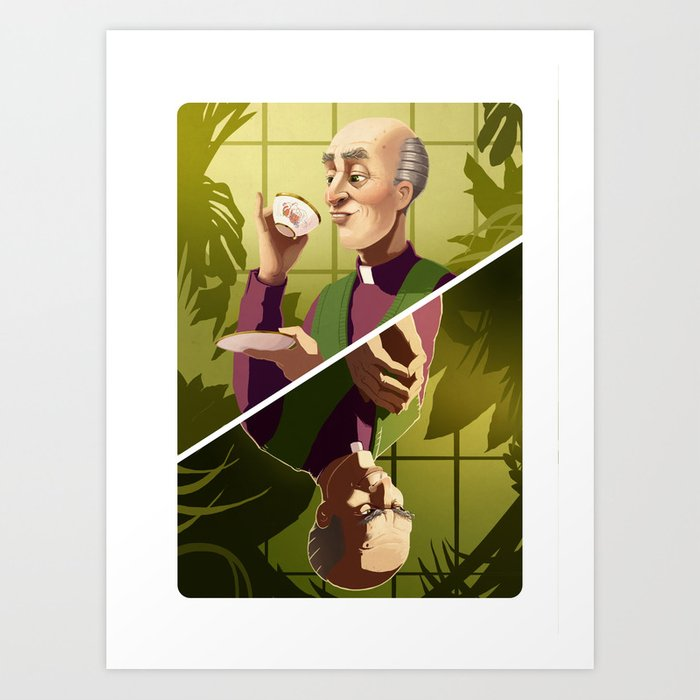 Reverend Green Art Print