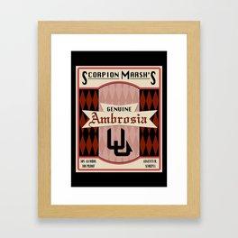 Fictional Brews - Ambrosia Framed Art Print