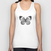 butterfly Tank Tops featuring Butterfly by Hermes_GC