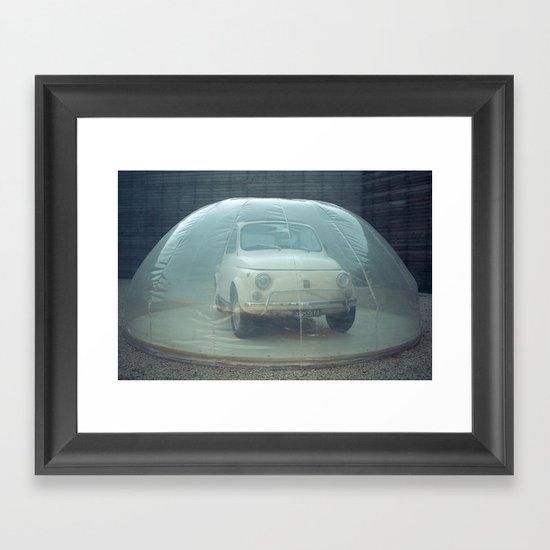bubble car Framed Art Print