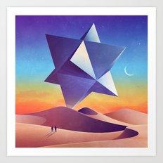 Galaxy desert Mars Art Print