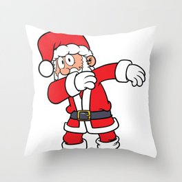 Cool Dabbing Santa Merry Christmas to All Throw Pillow