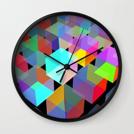 Neon light boxes Wall Clock