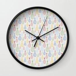 Colourful Baubels Wall Clock
