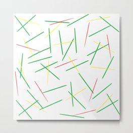 Fallen Toothpicks Metal Print