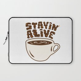 Stayin' Alive in Orange Laptop Sleeve