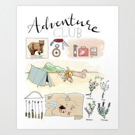 Adventure Club Art Print