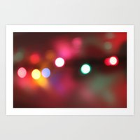 Bokeh Lights Art Print