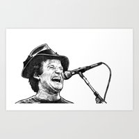 robin williams Art Prints featuring williams by BzPortraits
