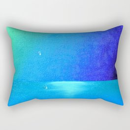 Ocean & Waterdrops / Oil Painting Rectangular Pillow
