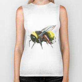 Bumblebee, minimalist bee honey making art, design black yellow Biker Tank
