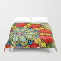 tequila Duvet Covers featuring Tequila Sunrise by Renee Ciufo