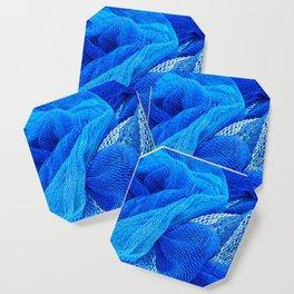 Fishing Net Blue Coaster