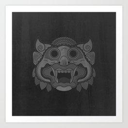 Protector - Mono Art Print