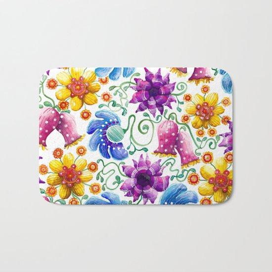 Summer Flowers Bath Mat