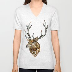 Deer // Animal Poker Unisex V-Neck
