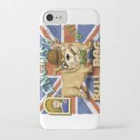 english bulldog iPhone & iPod Cases featuring English Bulldog by Brian Raszka Art & Illustration
