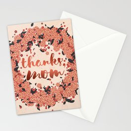 Thanks mom, in the summer of life Stationery Cards