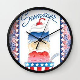 Summer Sundae Wall Clock