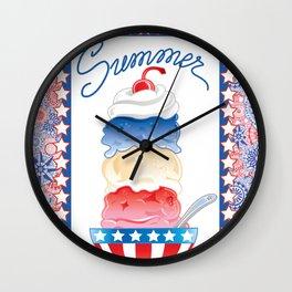 Summer Sundae Wall Clock