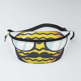 Hipster pineapple with glasses Fanny Pack
