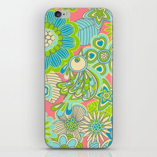 """Welcome birds to my garden""..pink iPhone & iPod Skin"