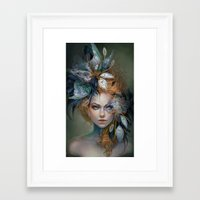 victorian Framed Art Prints featuring Victorian Voodoo by Jennifer Healy