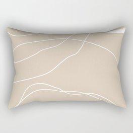 LINEE DI VITA - The lines of life - Modern abstract art hand drawn Rectangular Pillow