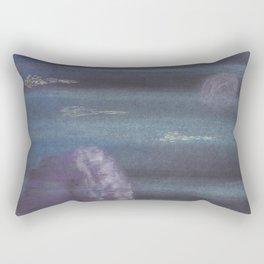 Alien Spaceship from Rama Empire on the Moon Rectangular Pillow