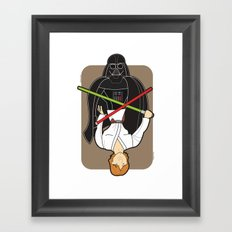 Darth Vader and Luke Framed Art Print