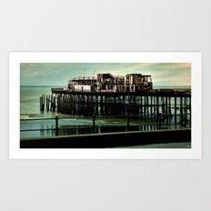 Hastings Pier Art Print