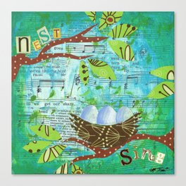 Nest and Sing Canvas Print