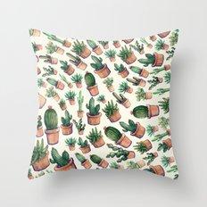 cactus big invasion!! Throw Pillow