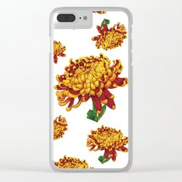 Floral Theme- Chrysanthemum Watercolor Flower Clear iPhone Case