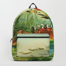 Amazonian birds by Göldi & Emil August 1859-1917 Belem Brazil Colorful Tropical Birds Ducks Backpack