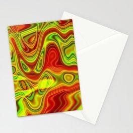 Vibrant oil slick Stationery Cards