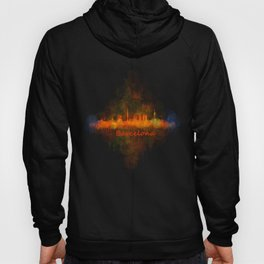 Barcelona City Skyline Hq _v4 Hoody