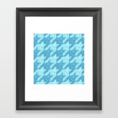 squid houndstooth Framed Art Print
