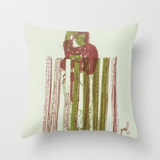 Billygoat with a blowtorch Throw Pillow