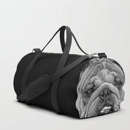 Bulldog Black and White Duffle Bag
