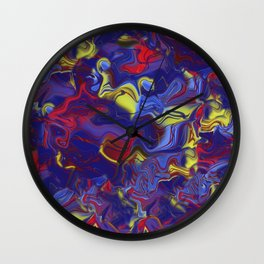 Lights On Abstract Wall Clock
