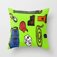 hiking Throw Pillows featuring Hiking by Jonny Penn