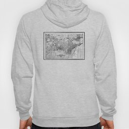 Vintage Map of Cambridge Massachusetts (1877) BW Hoody