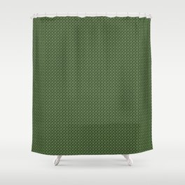 Knitted spring colors - Pantone Kale Shower Curtain