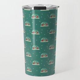 Christmas Foxes Travel Mug