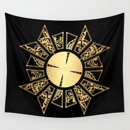 Lament Configuration Opened - Natural Wall Tapestry
